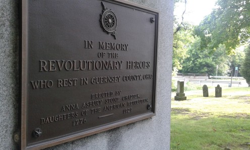 A Monument in the Founders Grave Yard to the Veterans of the American Revolution